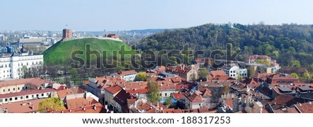 The Hill of Three Crosses in Vilnius, Lithuania.  - stock photo