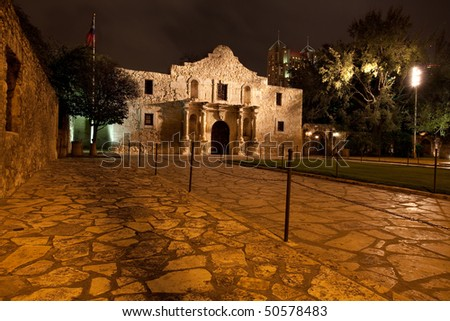 The historic Alamo mission in San Antionio Texas, site of the battle of the Alamo for Texas independence in 1836 - stock photo