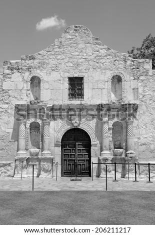 The Historic Alamo, San Antonio, Texas, USA - stock photo