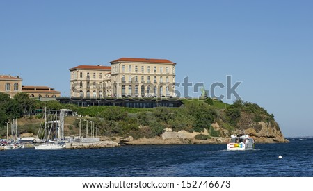 """The historic castle """"Villa Pharo"""" in Marseille in South France - stock photo"""