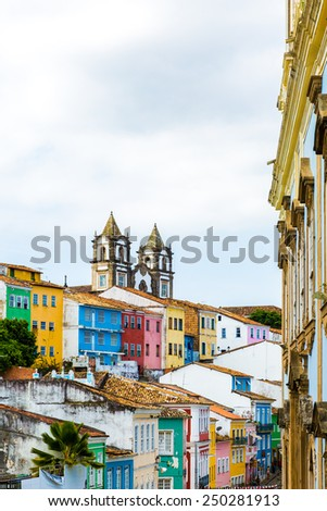 The historic centre of Salvador, Bahia, Brazil - stock photo