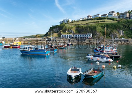 The historic fishing village of Mevagissey on the south coast of Cornwall - stock photo