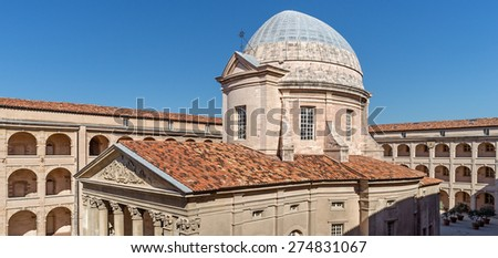 """The historic hospital """"Vieille Charite"""" of Marseille in South France - stock photo"""