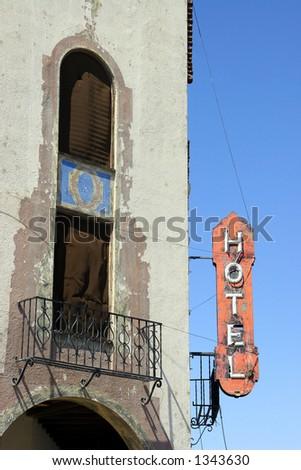The historic Hotel Del Sol in Yuma, AZ. - stock photo