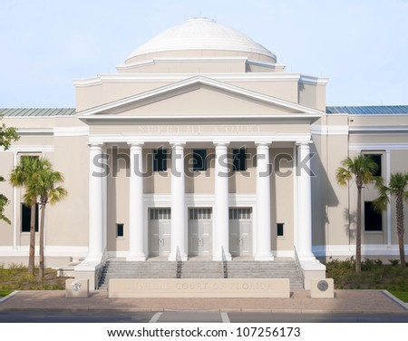 The historic Supreme Court Building in Tallahassee, Florida, - stock photo