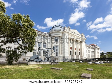 The historic Technical Museum of Vienna opened in 1918. Build under the regency of Franz Joseph I Emperor of Austria. - stock photo