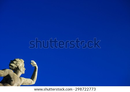 The historical sculpture Venus on the lower marketplace in Freudenstadt in the Black Forest, Baden-Wurttemberg, Germany, Europe  - stock photo