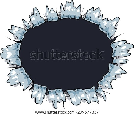 The hole on a white background raster version - stock photo