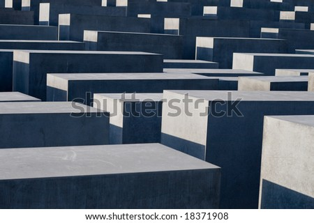 The Holocaust memorial monument in Berlin Germany - stock photo