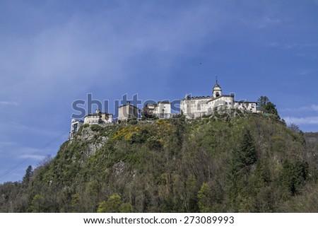 """The """"Holy Mountain"""" Sacro Monte di Varallo Varallo Valsesia is a famous pilgrimage site  - stock photo"""