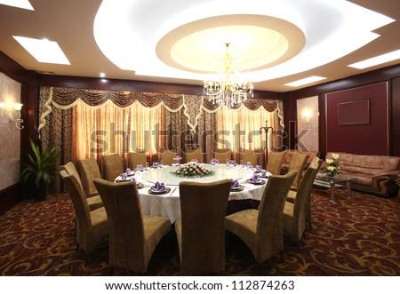 The hotel's restaurant - stock photo
