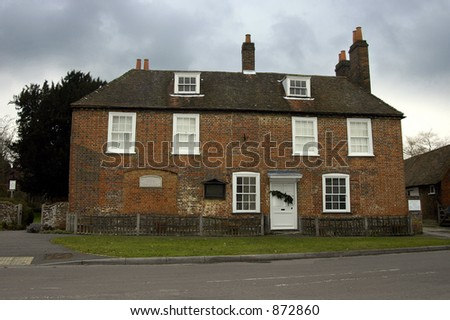 The house in Chawton, Hampshire where Jane Austen spent the last 8 years of her life - stock photo