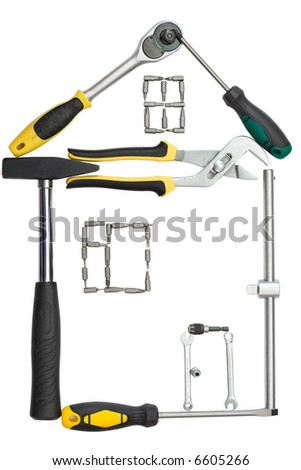The house made of tools - stock photo