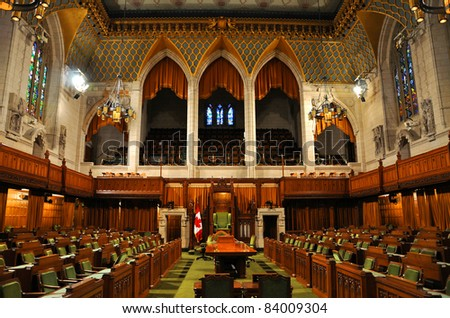 The House of Commons of Parliament Building, Ottawa, Canada - stock photo