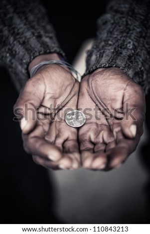 The human's hunger for money.9 - stock photo