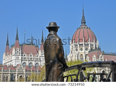 The hungarian parliament buildung in Budapest - stock photo