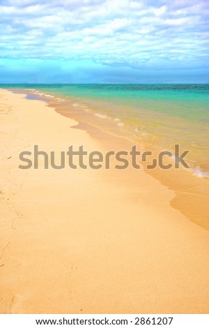 The icon tropical beach (useful as background) - stock photo