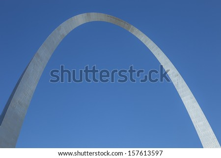 The iconic curves of the Gateway Arch  - stock photo