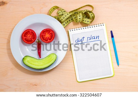 The idea of a healthy lifestyle. Diet plan - stock photo