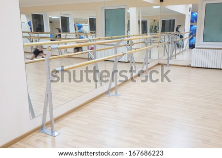 the image of a ballet barre - stock photo