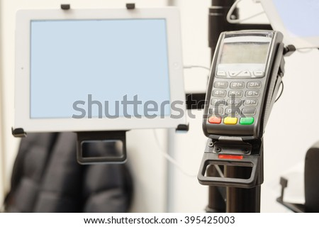 The image of a cash machine - stock photo