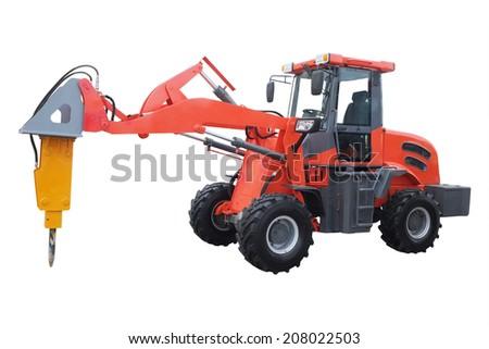 the image of a drill concrete machine - stock photo