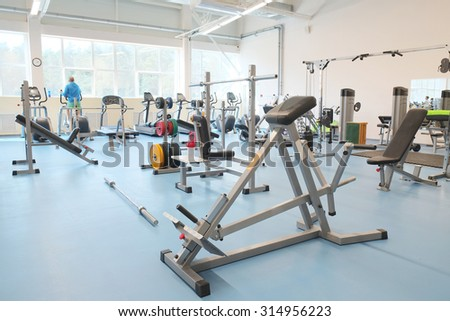 The image of a fitness hall - stock photo