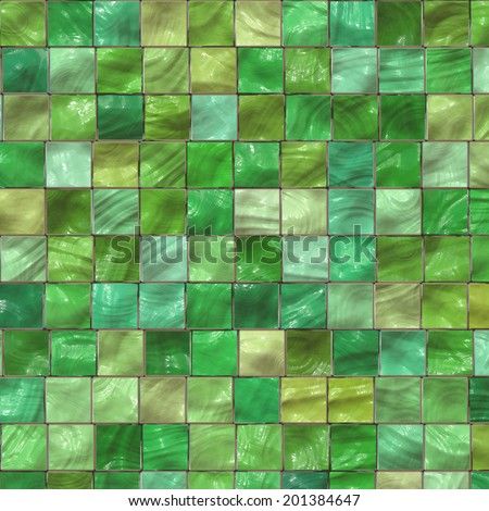 The image of a green ceramic tile close up - stock photo