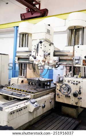 The image of a metalworking machine - stock photo
