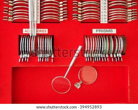 The image of an optometry set - stock photo
