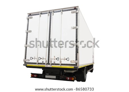 The image of back part of a van - stock photo