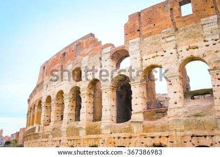 The image of Coliseum in Roma, Italy - stock photo