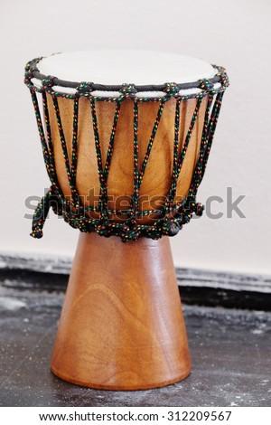 The image of ethnic  drum - stock photo