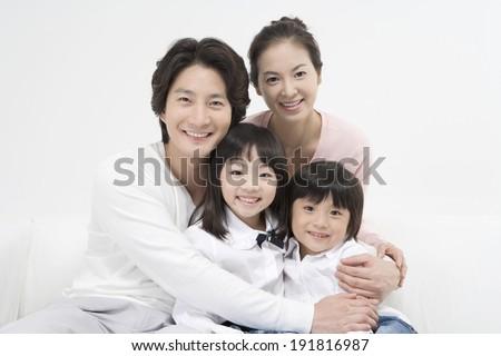The image of Korean family - stock photo