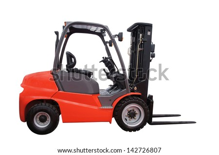 The image of loader isolated under the white background - stock photo