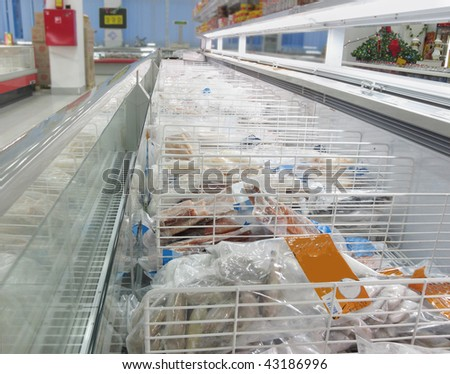 the image of  refrigerator in a shop - stock photo