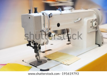 the image of sewing-machine  - stock photo