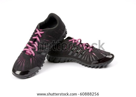 The image of sports footwear - stock photo