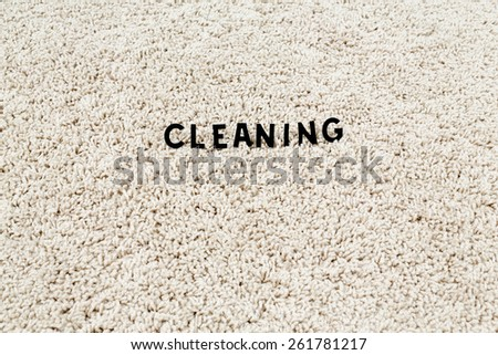 the image of the cleaning carpet - stock photo