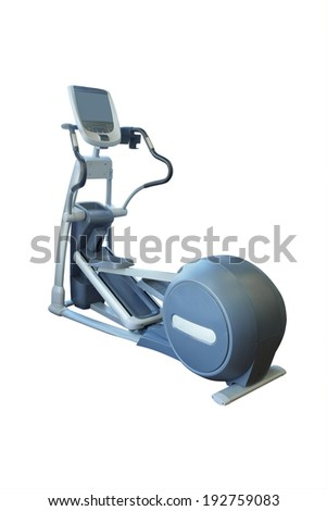 The image of treadmill isolated under the white background - stock photo