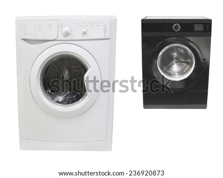 The image of washer under the white background - stock photo