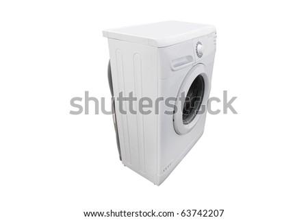 The image of washer under the white background - stock photo