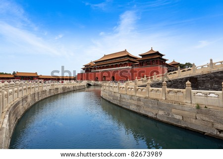 the imperial palace in Beijing,China - stock photo