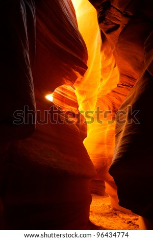 "The impressing Slot Canyon ""Upper Antelope Canyon"" - stock photo"
