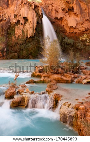 The incredible Havasu Falls, Grand Canyon, Arizona - stock photo