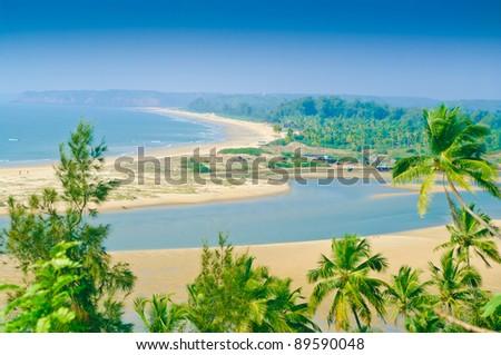 The Indian beach - stock photo