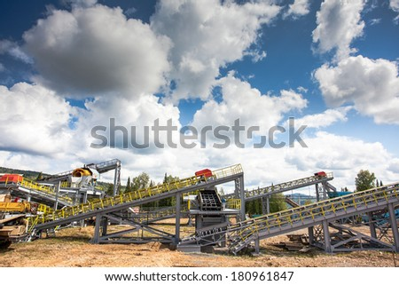 The industrial landscape  - stock photo