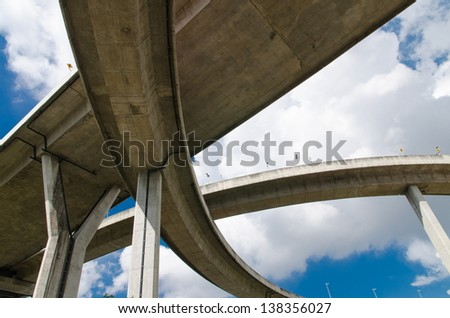 The Industrial Ring Road Bridge in Bangkok, Thailand - stock photo