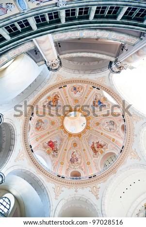 The inside of Frauenkirche in Dresden - Germany - stock photo