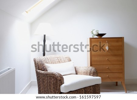 The interior of a modern home - stock photo